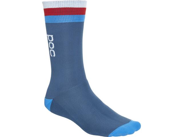 POC Essential Calcetines de longitud media Hombre, cubane multi blue